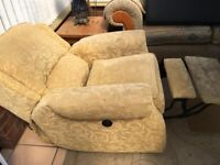 Electric Fabric Recliner Chair Disability Seat