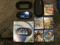 Boxed Sony PS Vita - 4GB - 5 Games - Case - Good conditon