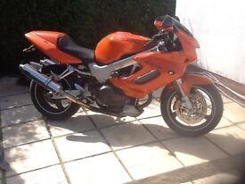 Honda 1000cc Firestorm. Immaculate condition. 12 months MOT, desirable colour (Immola orange)