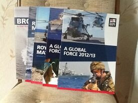 Five soft back annual reviews of the Royal Navy covering the period from 2008 - 2013