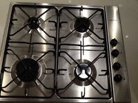 Used Neff gas hob 4 burner 60 cm stainless steel