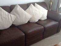 Quality Leather suite 3 seater and 2 seater.