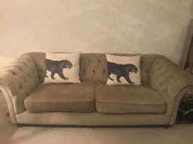 Sofa, 3 seater chesterfield sofa