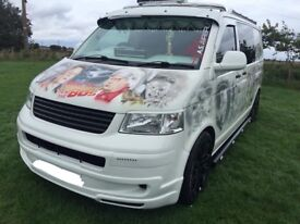 Volkswagen Transporter T5 Dayvan Custom Airbrushed Kombi Camper Project *SWAP PX*