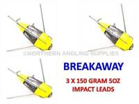Breakaway Tackle NEW Luminous Impact Lead Weights 170g Pack of 10
