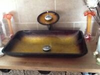 COUNTER TOP SINK BROZE COLOUR NEW STILL IN BOX