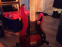 westfield B1000 precision bass guitar- blood red