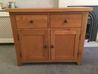 Solid oak sideboard for sale - perfect condition