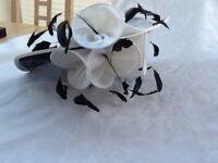 Gina Bacconi black and white hat