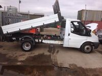 2007 FORD TRANSIT TIPPER TRUCK 115 T350M RWD WHITE 6 SPEED TIDY DROP SIDE BODY
