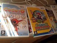 Wii Console Plus Games Paper Boy .6 Games Tested .