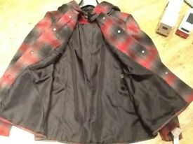 NEW NOT BEEN WORN WITH TAG ON RED/GREY JACKET WITH HOOD SIZE 16