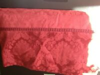 Beautiful red damask curtains