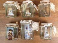 6x vintage bottled fairies, 'Freshly Caught Fairy Folk'