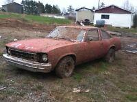 """""""77 Nova"""" parts or project car $800 obo"""