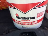Unopened McPherson trade paint in Brilliant White 15 litres x2