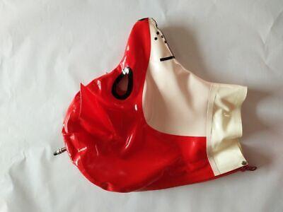 Latex 100% Rubber Gummi Kostüm Ganzanzug Maske Fox mask Hood Black - Black Fox Kostüm