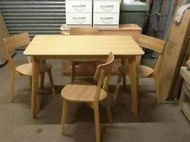 £99 - Retro dining table with 4 chairs - new and unused - delivery available