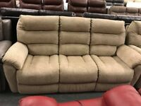 High retail fabric recliner 3 and 2 seater sofas