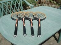 Tennis racquets x 4 Clubman, adult size, weight 340-370g vgc
