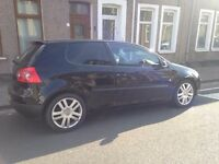 Black Volkswagen Golf Diesel 1.9 long MOT, part service history, Timing belt changed 2013