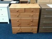 £55 Nordic 4 plus 2 drawer chest - slight second - delivery available