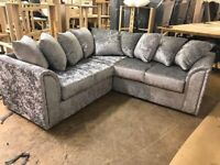 COUCH LIVERPOOL CRUSH VELVET CORNER OR 3+2 SEATER SOFA SET AVAILABLE IN STOCK