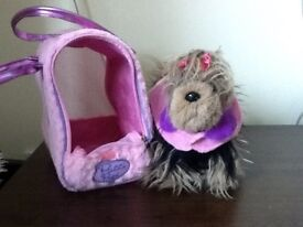 Pucci Pup Soft Toy with Carrier