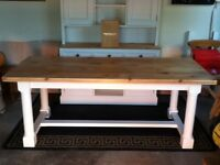 Absolutely gorgeous solid pine braced table
