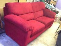 Sofa - 3 seater, fabric, washable cushions, smoke and pet free home. £75