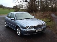 Jaguar X-Type 2.2 D Sovereign 4Dr Saloon in Light Metallic Blue with Full Leather Interior