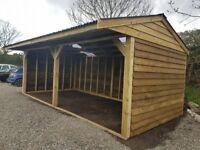 24ft x 12ft , car port , double field shelter , log store , garden shed. NO VAT!