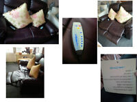 BEAUTIFUL BROWN ELECTRIC LEATHER RECLINING 2 SEATER SOFA WITH MORE FEATURES SEE PICS AND SIZE BELOW