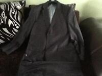 Men's pinstripe suit from George. Waist 30in, Inside leg 31L. Worn once and in excellent condition