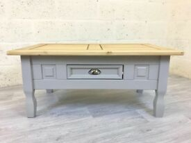NEW IN - Grey Painted Pine Coffee Table