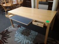 Large solid wood computer desk Copley Mill LOW COST MOVES 2nd Hand Furniture STALYBRIDGE SK15 3DN
