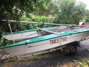 14 ft Paper Tiger Sailing Catamaran (fibreglass) with trailer Rowville Knox Area Preview