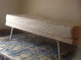 Single bed with mattress like new (foldaway)