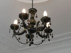 Candle-style chandelier in black