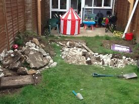 Free concrete rubble for collection