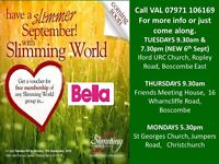 ***HAVE A SLIMMER SEPTEMBER @SLIMMING WORLD *** FREE JOINING OFFER B'MTH & XCHURCH
