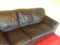 real leather suite bought from reids furniture store