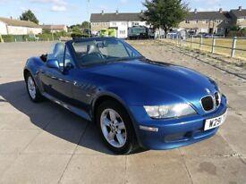 2000 BMW Z3 1.9 MANUAL CONVERTIBLE WIDE BODY FSH MOT 06/2019 TOPAZ BLUE