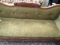 Rosewood double end settee in good condition