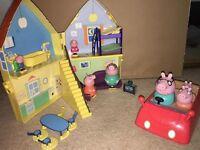 PEPPA PIG HOUSE SET PLUS CAR
