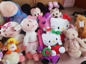 Large selection of soft toys