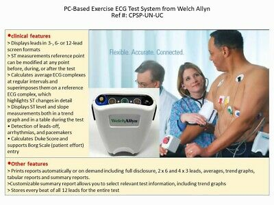 Welch Allyn Pc-based Exercise Ecg Test System And Cardioperfect Software