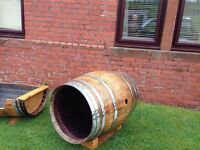 Whisky Barrel Dog Kennel