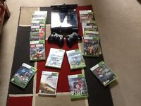 Xbox 360 S 250GB with kinect and two controllers