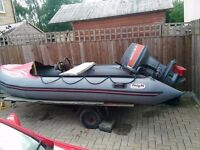 REDUCED avon sports boat 4m with 40 hp mariner